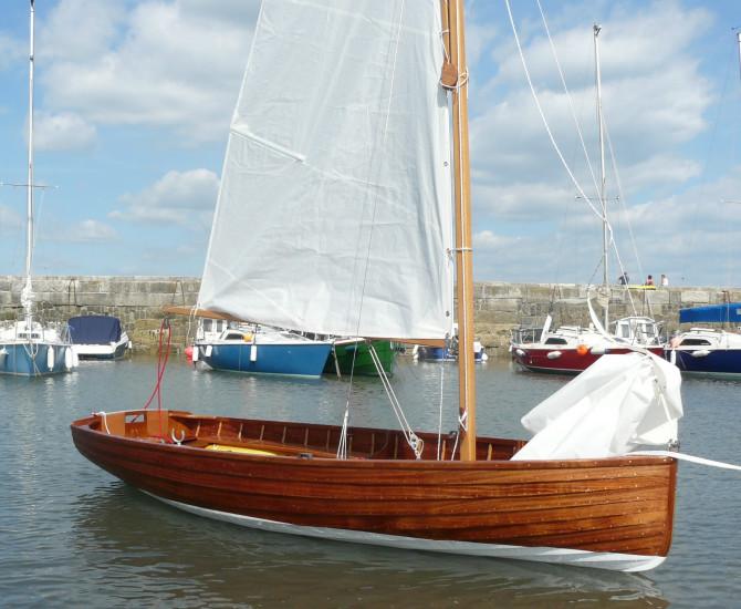 Bantham C-Class sailing dinghy.
