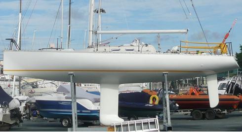 Adrian Thompson Open class race yacht