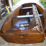 Gunter rig sailing dinghy
