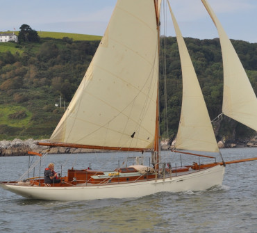 Claud Worth inspired gaff cutter Classic Yacht