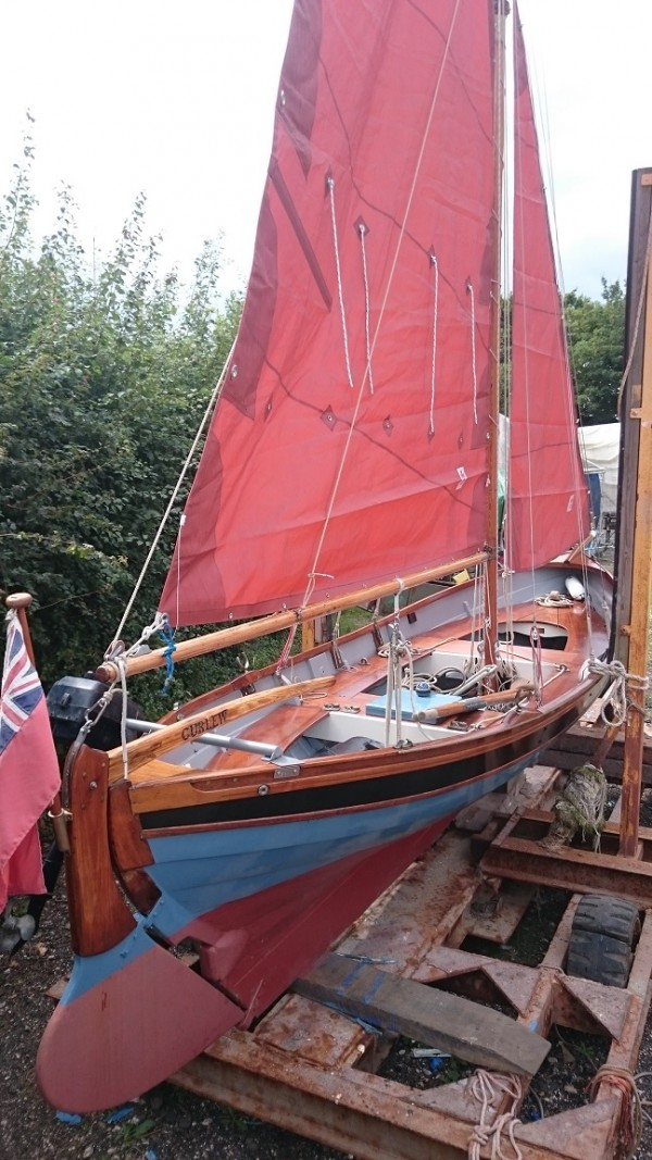 Nordic Double Ender Wooden Sailing Boat For Sale