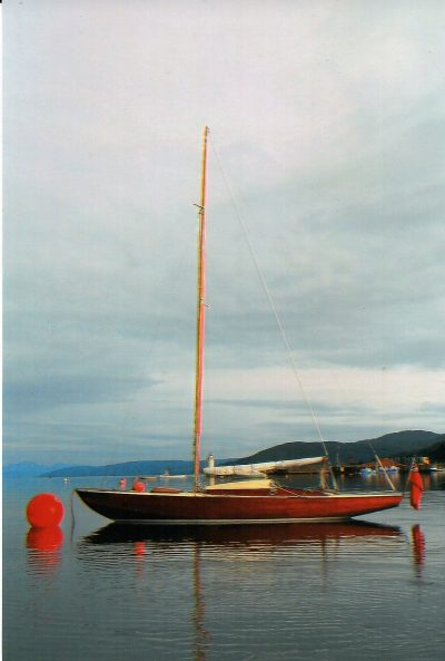 Classic wooden day boat
