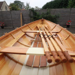 Paul Gartside rowing skiff