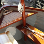 GRP clinker sailing dinghy