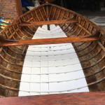 Clinker plywood rowing dinghy